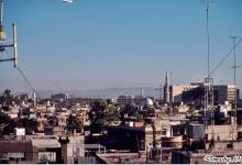 دمشـــق 1989 - صورة للمدينة ويظهر فندق المريديان في العمق