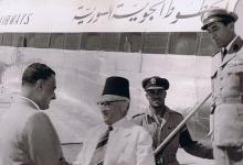 صورة القاهرة 1954- جمال عبد الناصر يستقبل سعيد الغزي (1)