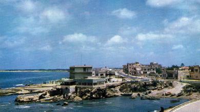 Latakia promenade on the western steep coast in the year 1962