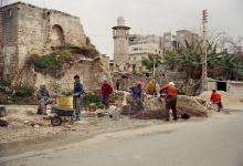اللاذقية - مسجد الأمشاطي وجواره في أواخر الثمانينيات من القرن الماضي..