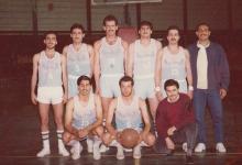 فريق نادي الوحدة لكرة السلة عام 1983