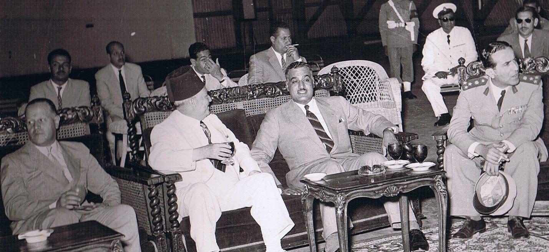 سعيد الغزي وجمال عبد الناصر في القاهرة 1954