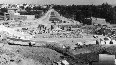 دمشق 1942 -  أبو رمانة .. ساحة الروضة وحديقة أبو علاء المعري قيد الإنشاء
