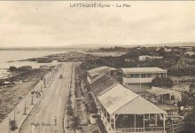 اللاذقية 1928 - الكورنيش الغربي ومقهى شناتا ..