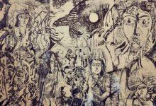 الطائر والشمس .. لوحة للفنان أحمد مادون 1980