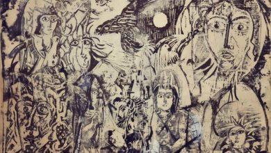 الطائر والشمس .. لوحة للفنان أحمد مادون (11)