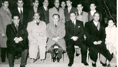 مصطفى رام حمداني محافظ حمص والشاعر عبد المعين الملوحي