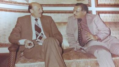 صورة أحمد عنتر  مدير شركة الطيران السورية مع نعمان الزين وزير النقل