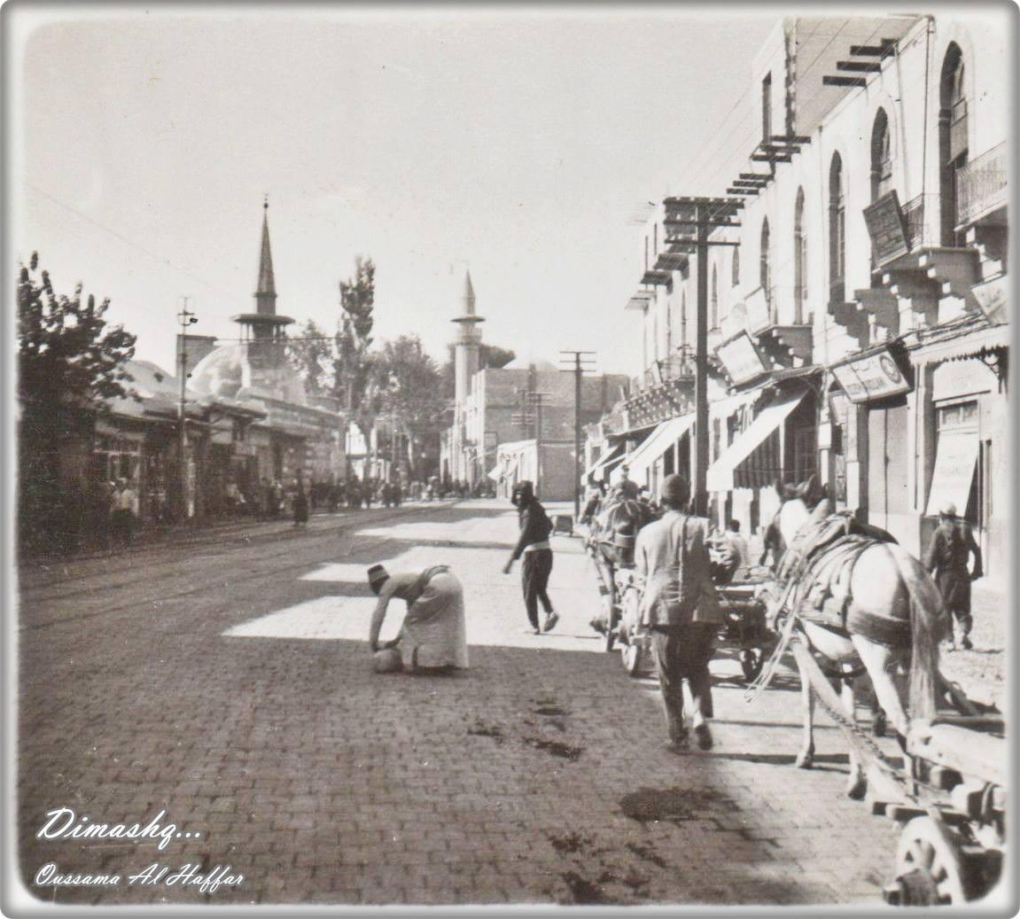 دمشق - مسجد الدرويشية والمئذنة القريبة لمسجد السياس