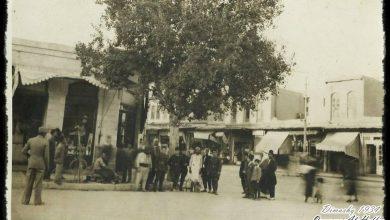 دمشق 1934 - سوق الخجا في جهة اليمين
