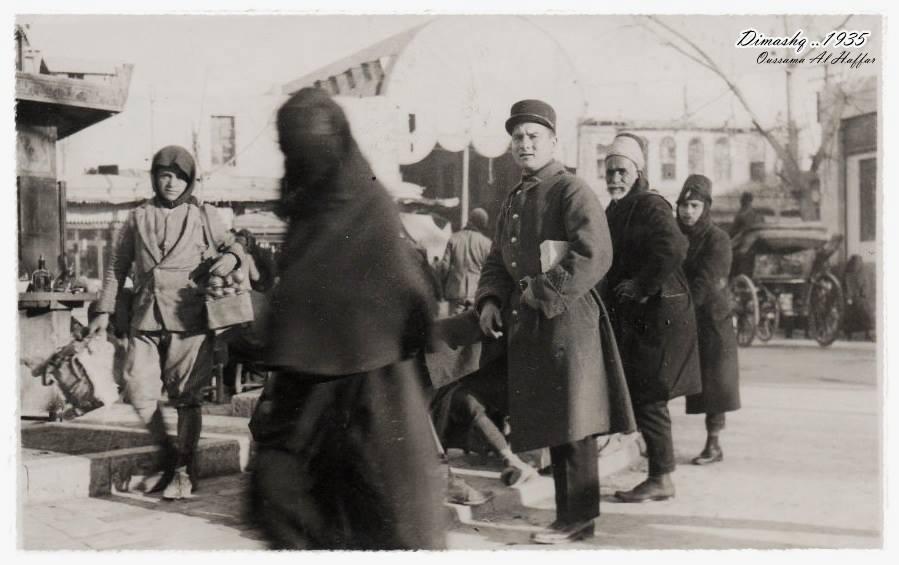 دمشق 1935 - مدخل سوق الحميدية..