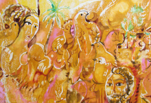 من وحي تدمر .. لوحة للفنان أحمد مادون (14)