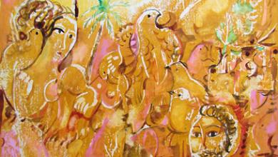 صورة من وحي تدمر .. لوحة للفنان أحمد مادون (14)