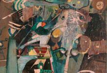 تكوين (1) .. لوحة للفنان أحمد مادون