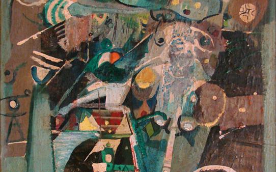 تكوين .. لوحة للفنان أحمد مادون (13)