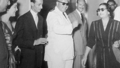 صورة أم كلثوم في دمشق عام 1958 لإحياء حفلاتها على خشبة معرض دمشق الدولي
