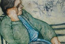 صورة على مقعد الإنتظار .. من لوحات الفنان لؤي كيالي (29)