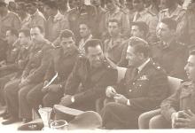 صورة الرائد يحيى الغزي في مبارة  لفريق القوى الجوية بكرة السلة عام 1964 (1)