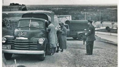 صورة دمشق 1955 – الشرطة في ساحة خورشيد