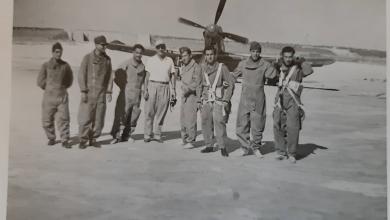 صورة طلاب في الكلية الجوية بحلبفي الخمسينيات