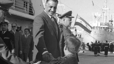 جمال عبد الناصر في ميناء اللاذقية عام 1961