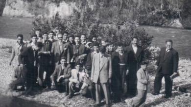 طلاب مدرسة جودت الهاشمي في رحلة إلى لبنان عام 1953م