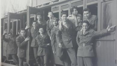 طلاب ثانوية دمشق الأميركية عام 1959 باللباس الفتوة في رحلة قطار الزبداني