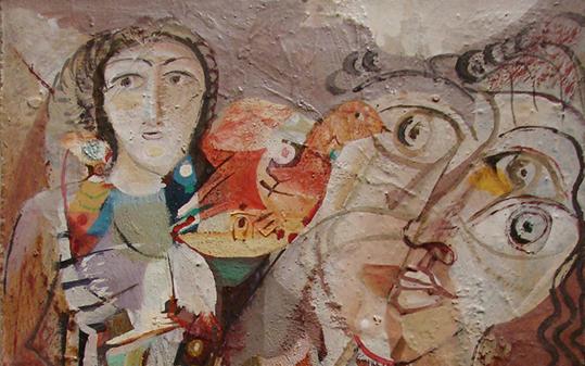 صورة ترقب .. لوحة للفنان أحمد مادون (16)