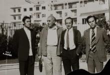 صورة المهندس عبد الرحمن الجاسر مع خبراء تصميم منشآت الري بحوض الفرات عام 1975