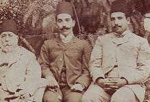 صورة عطا باشا البكري وأولاده نسيب وفوزي
