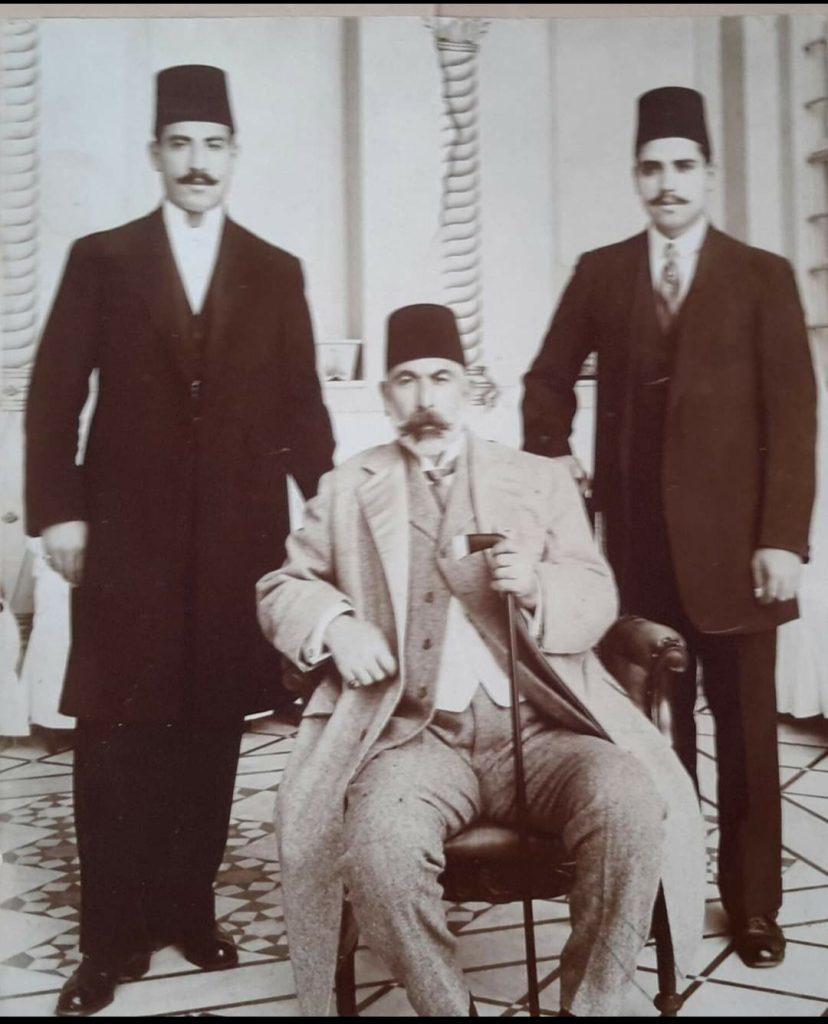 عطا باشا البكري وأولاده نسيب وسامي