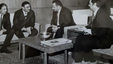 فاروق الشرع وأحمد عنتر في مقر شركة الطيران عام 1976