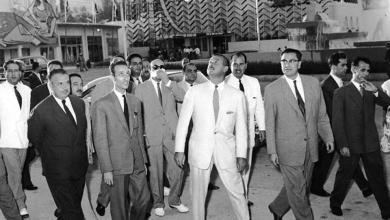 صورة دمشق 1958 – حسين الشافعي نائب رئيس الجمهورية العربية المتحدة في معرض دمشق الدولي