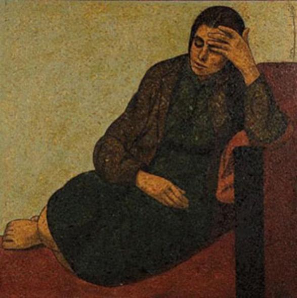 غفوة .. من لوحات الفنان لؤي كيالي (28)