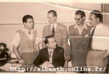 صورة دمشق في الأربعينيات – ميشيل عفلق في مكتب حزب البعث