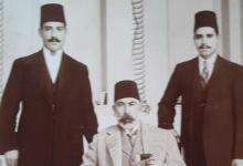صورة عطا باشا البكري وأولاده نسيب وسامي