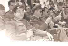 صورة الرائد يحيى الغزي في مبارة  لفريق القوى الجوية بكرة السلة عام 1964 (2)