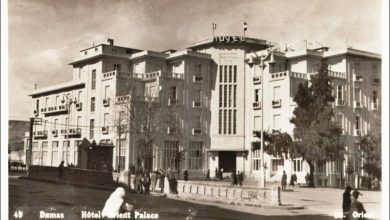 دمشق 1922 - فندق أورينت بالاس