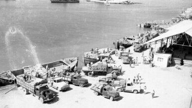 اللاذقية - رصيف الميناء في الخمسينيات