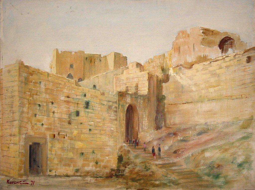 """""""قلعة الحصن"""" لوحة للفنان  ميشيل كرشة (6)"""