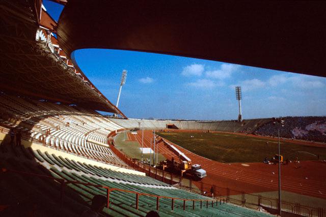 اللاذقية 1987 - الستاد الرئيسي في المدينة الرياضية قيد الإنشاء