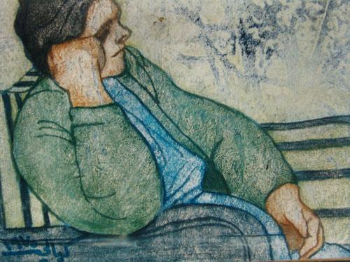 على مقعد الإنتظار .. من لوحات الفنان لؤي كيالي (29)