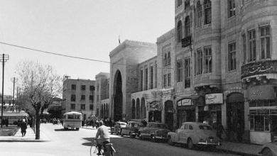 دمشق - شارع النصر في بداية الخمسينيات عند الجهة الشرقية