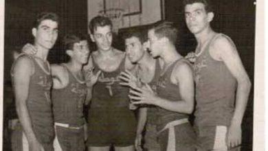 صورة فريق الغوطة لكرة السلة الفائز بكأس العميد مطيع السمان عام 1962