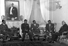شكري القوتلي يستقبل جمال عبد الناصر في قصر الضيافة بعيد إعلان الوحدة (3)
