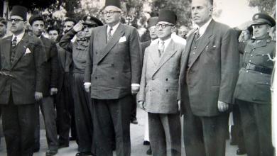 صورة زيارة خالد العظم رئيس الحكومة إلى اللاذقية في شباط 1950