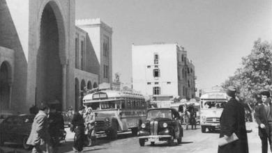 دمشق 1954 - شارع النصر في الجهة الشرقية