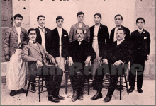 اللاذقية 1909- الأساتذة مع دفعة الطلاب المتخرجين من المدرسة الأمريكية للبنين