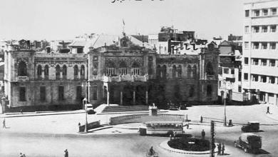 دمشق - ساحة الحجاز في مطلع خمسينات القرن العشرين