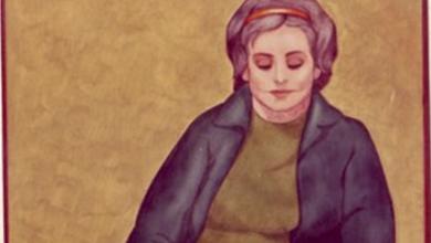القارئة 1 .. من لوحات الفنان لؤي كيالي (33)